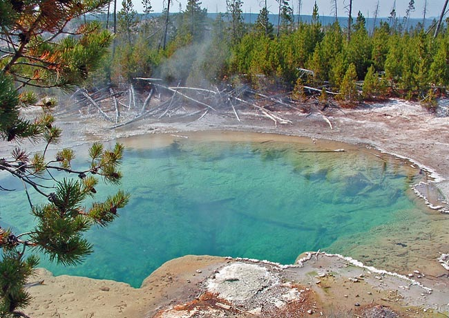 Emerald Pool - Norris Geyser Basin, Yellowstone National Park, Wyoming