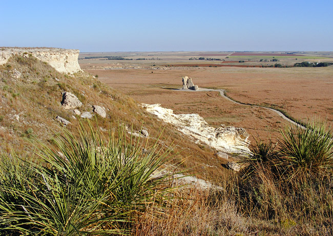 Castle Rock view from above - Quinter, Kansas