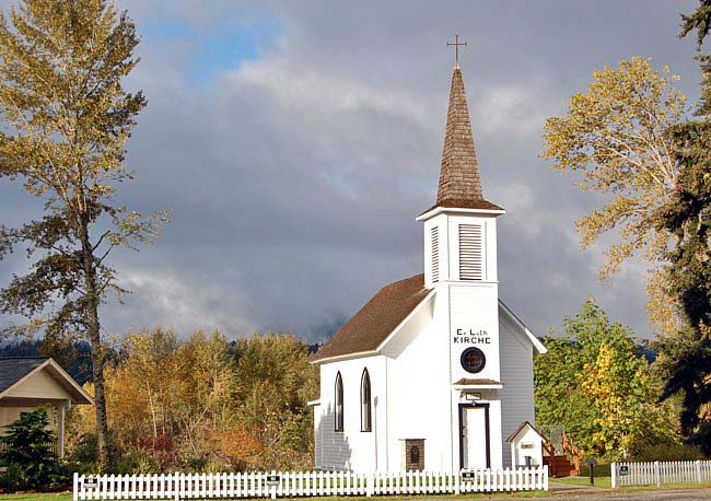 Elbe Kirche (Historic Elbe Church) - Elbe, Washington
