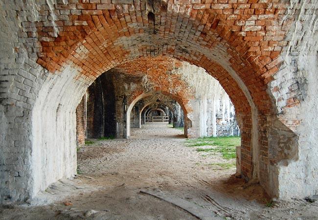 Intérieur de Fort Pickens aujourd'hui