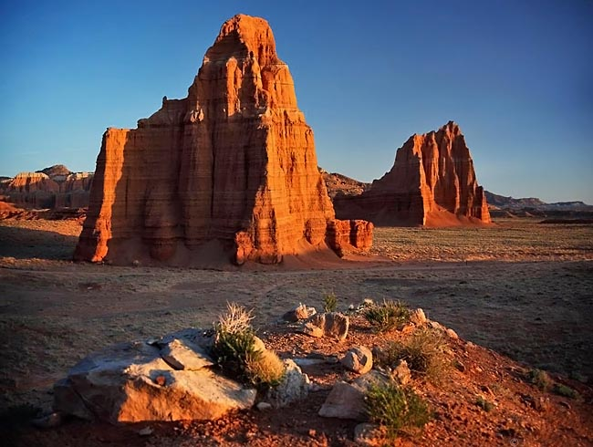 Temple of the Moon and Sun - Cathedral Valley, Torrey, Utah