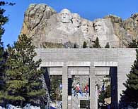 The Avenue of Flags - Mount Rushmore National Memorial