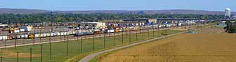 East view of the Bailey Yard - North Platte, Nebraska