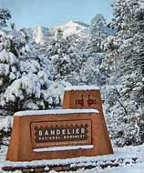 Bandelier Park Entrance Sign by Sally King, NPS
