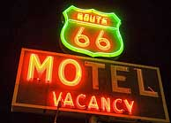Rt 66 Motel Sign at Barstow, CA
