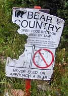 Bear Country Sign - Grand Tetons National Park, Wyoming