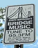 Bertolozzi Bridge Music Sign