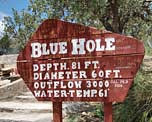 Blue Hole Info Sign - Santa Rosa, New Mexico