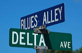 Blues Alley and Delta Avenue Street Sign, Clarksdale