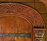 Door Carvings - Boynton Chapel, Baileys Harbor, Wisconsin