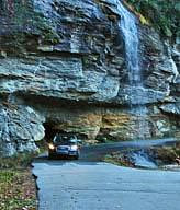 Bridal Veil Falls with car