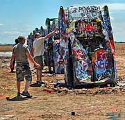 Cadillac Ranch Artists - Amarillo, Texas