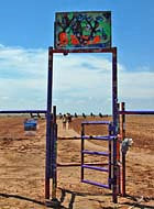 Cadillac Ranch Entrance Gate - Amarillo, Texas