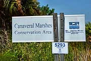 Entrance Sign - Canaveral Marshes, Brevard County, Florida