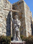 statue - Mission San Juan Capistrano founder, Father Junipero Serra