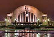 Union Terminal Entrance at Night  - Cincinnati, Ohio