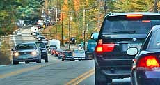 Autumn Traffic Jam - Conway, NH