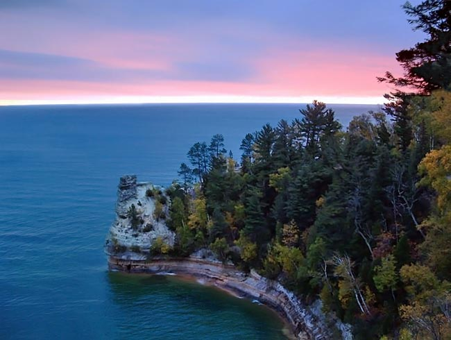 Miners Castle - Pictured Rocks National Lakeshore, Munising, Michigan