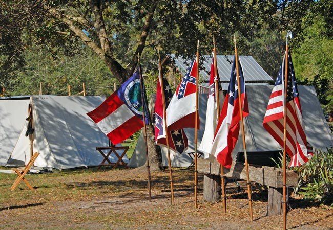 Bivouac Demonstration - Florida Cracker Christmas, Fort Christmas Historical Park