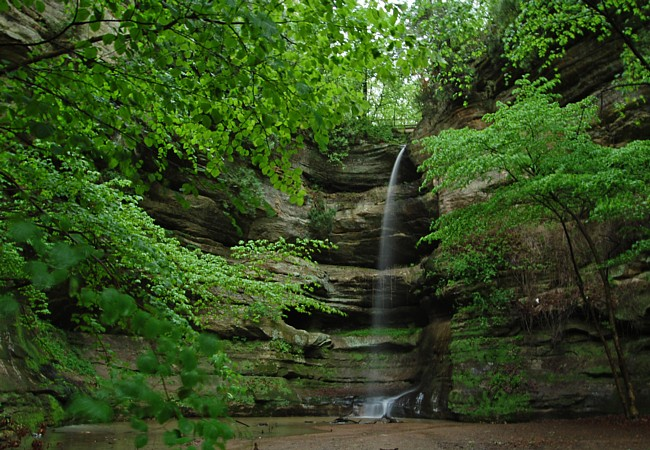 Wildcat Canyon Falls - Starved Rock State Park, Illinois