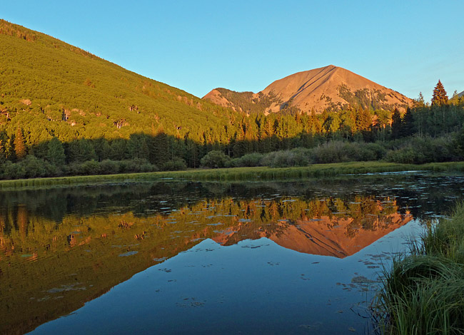 Warner Lake  with Haystack Mountain in the background - Manti-La Sal National Forest, Utah