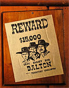 Dalton Gang Reward Poster