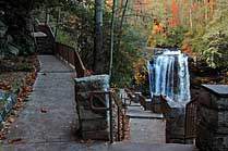 Dry Falls Access Stairs - Nantahala National Forest, NC