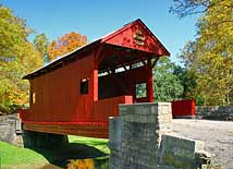 Ebenezer Church Covered Bridge - Mingo Creek County Park, Eighty Four, Pennsylvania