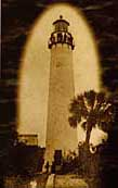 Historic photo of the Egmont Key Lighthouse - Pinellas County, Florida
