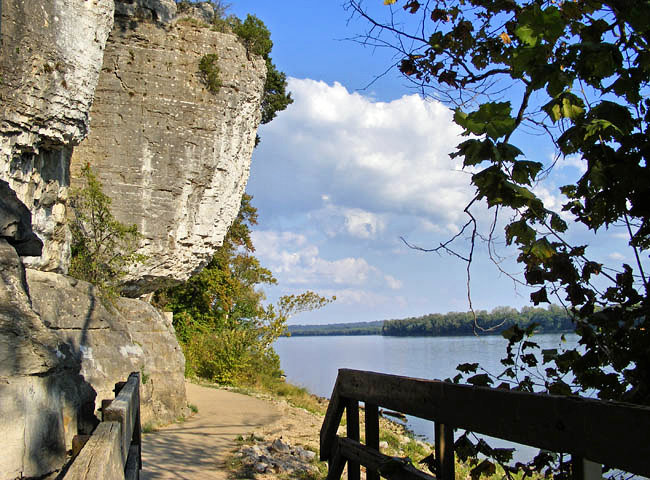 Cave-in-the-Rock Riverwalk - Ohio River National Scenic Byway, Illinois