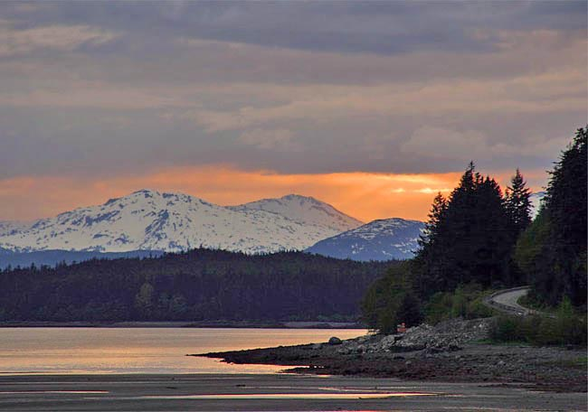 Peaceful Evening - Gastineau Channel, Juneau, Alaska