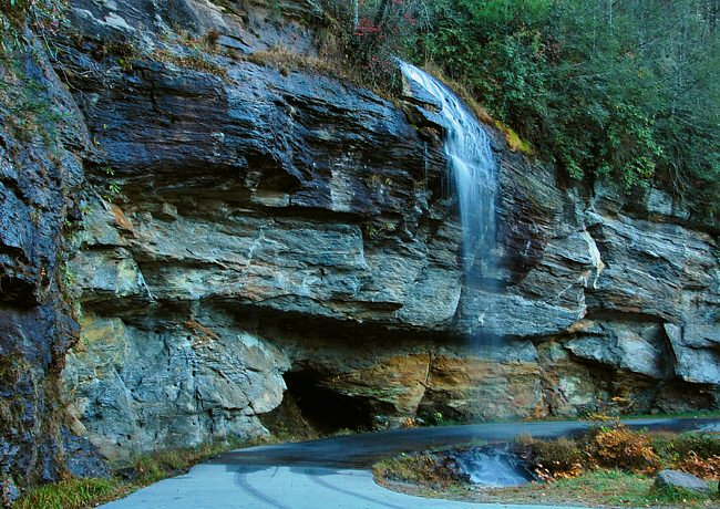 Bridal Veil Falls -  Highlands, North Carolina