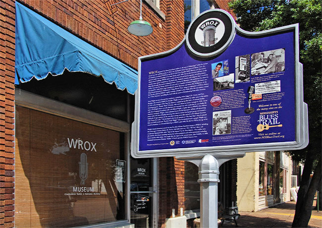 Mississippi Blues Trail - WROX Radio Station Museum - Clarksdale, Mississippi