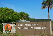 Entrance Sign - Fort Matanzas, St Augustine, Florida