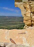 Fossil Butte National Monument Cliffs, Kemmerer, WY -  courtesy NPS