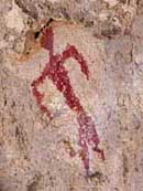Red Man Pictograph - Gila Cliff Dwellings National Monument, New Mexico