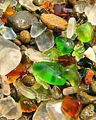 Glass and Pebbles - Fort Bragg, California