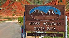 Entrance Sign - Gloss Mountain Park, OK