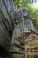 Staircase to Lower Greeter Falls, Savage Gulf State Natural Area TN