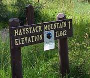 Haystack Mountain Signpost - Manti-La Sal National Forest, UT