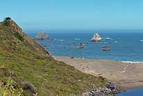 Headlands and Seastacks - North Coast, California