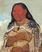 Hidatsa woman (Wife of Two Crows) - by George Catlin-1832