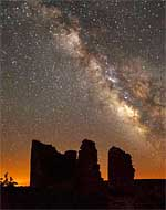 Milky Way over Hovenweep Castle