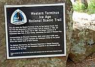 Ica Age Trail Western Terminus Sign