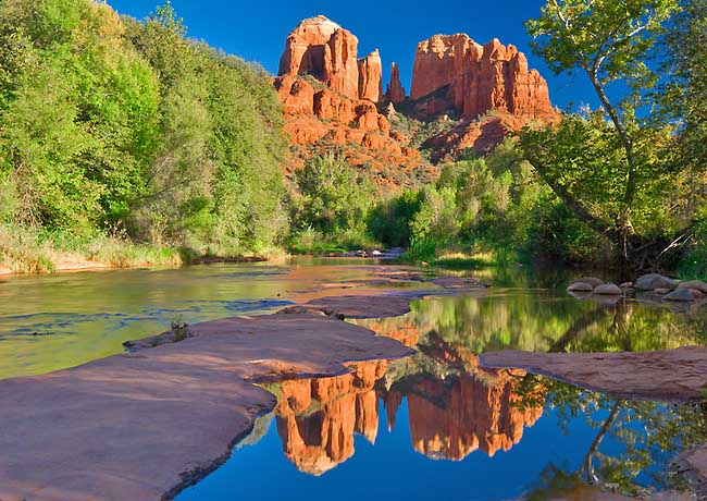 Cathedral Rock from Red Rock Crossing - Sedona, Arizona