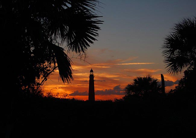 Lighthouse view from Lighthouse Point Park - Ponce Inlet, Florida