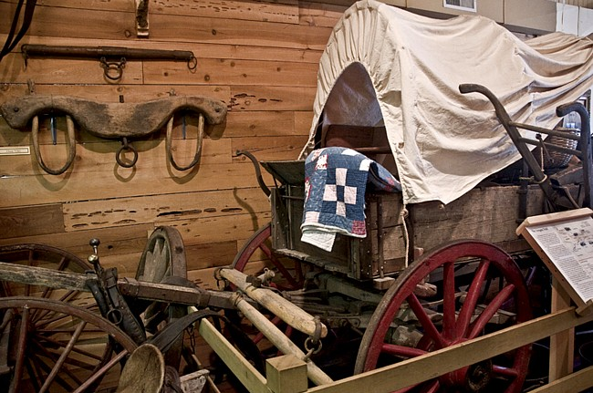 Original Covered Wagon - Linn County Museum, Brownsville, Oregon