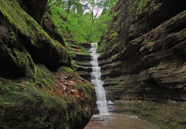 French Canyon Falls - Starved Rock State Park, Illinois