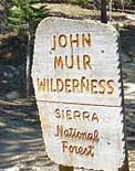 John Muir Trail Sign - Sierra National Forest, CA