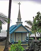 Little Blue Church - St. Peter's Catholic Church, Kailua-Kona, Hawaii